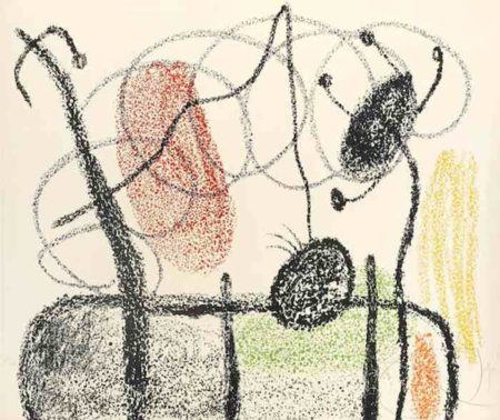 Joan Miro-Plate 19, from Album 21-1978