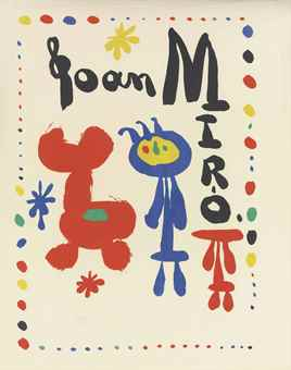 Joan Miro-Poster for Exhibition of 1948-1948