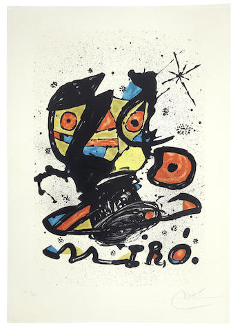 Joan Miro-Poster for the Exhibition 'Miro' Galeria Maeght, Barcelona-1978