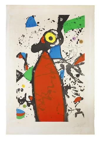 Joan Miro-Souris rouge a la Mantille-1975