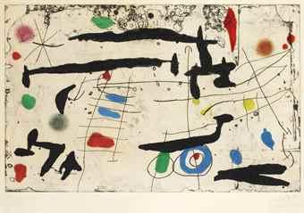 Joan Miro-Trace Sur La Paroi II-1967