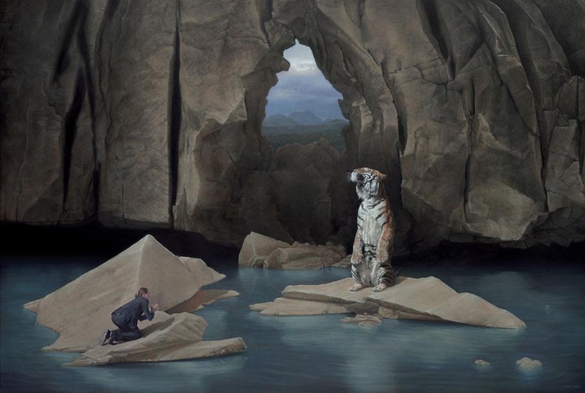 Jonathan LeVine Gallery joel rea exhibition painting video coast gold geladen oil canvas joelrea news portrait work