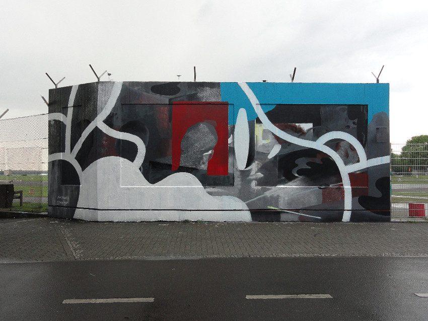 Johannes Mundinger x Kid Cash - mural at Berlin Tempelhof Airport, 2016