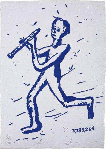 Jonathan Borofsky-Pied Piper #3,785,264-1990