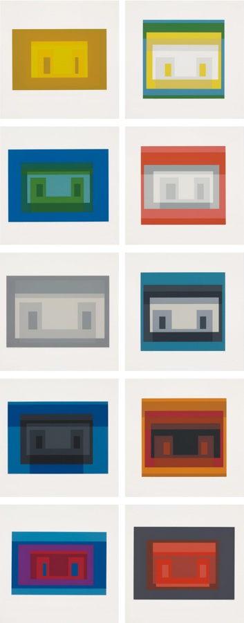 Josef Albers-Ten Variants-1966