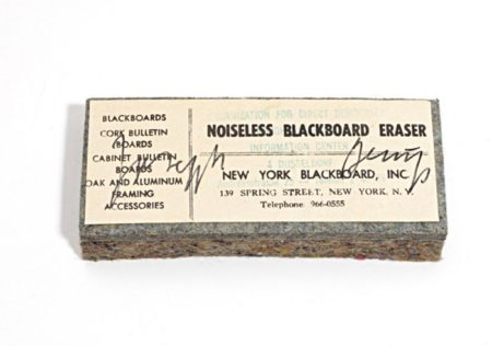 Joseph Beuys-Noiseless Blackboard Eraser-1974