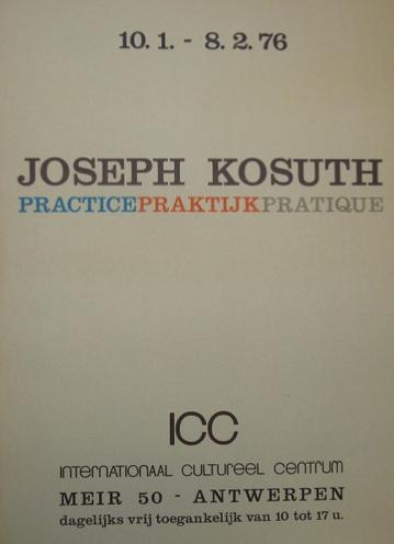 Joseph Kosuth-Affiche-1976