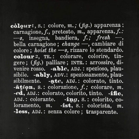 Joseph Kosuth-Art As Idea As Idea, Colour-1967