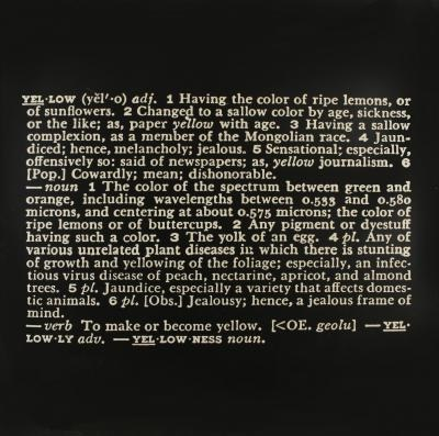 Joseph Kosuth-Art as Idea as Idea, Yellow-1967