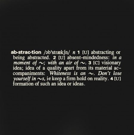 Joseph Kosuth-(Art as idea as idea) Abstraction-1967