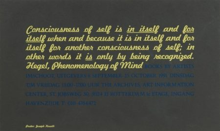 Conciousness... Hegel, Phenomenology of Mind-1991