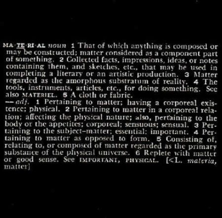 Joseph Kosuth-Definitions Material-1968