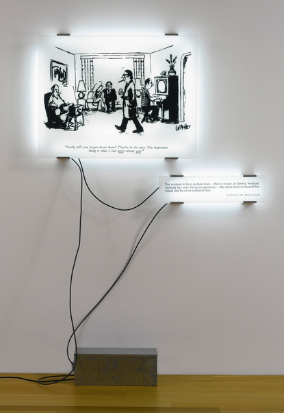 Joseph Kosuth-Double Reading No.13-1993