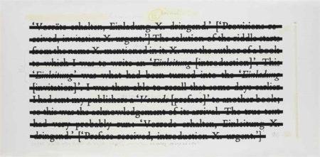 Joseph Kosuth-Drawing for Zero & Not-1986