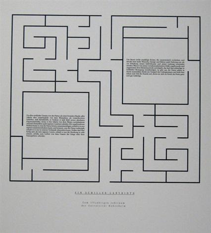 Joseph Kosuth-Ein Schiller Labyrinth-1993
