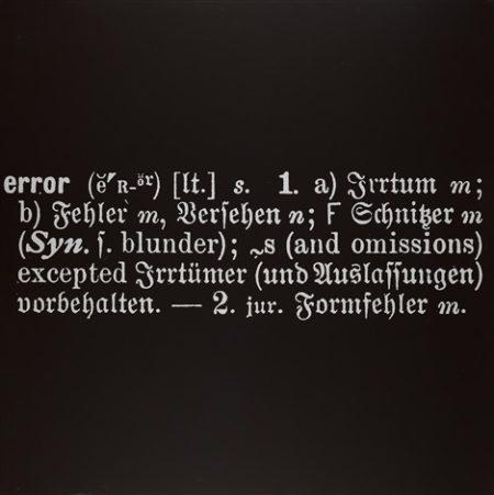 Joseph Kosuth-Error-1968