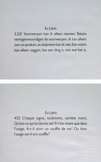 Joseph Kosuth-Ex-Libris, 432 Chaque Signe-