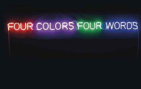 Joseph Kosuth-Four Colors Four Words (Orange, Violet,Green, Blue)-1966