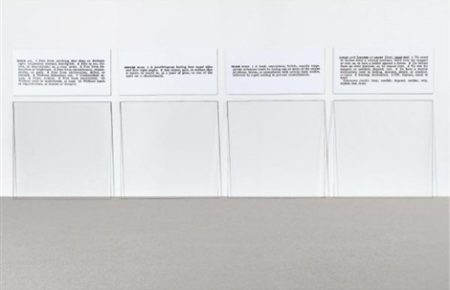 Joseph Kosuth-Glass, One and Four Defined-1965