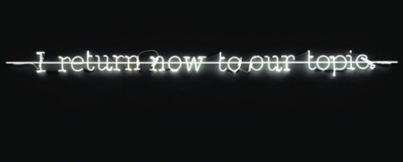 Joseph Kosuth-I Return Now to Our Topic-1988