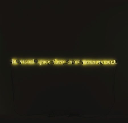 Joseph Kosuth-In Visual Space There Is No Measurement-1990