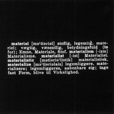 Joseph Kosuth-Material-1970