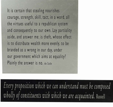 Joseph Kosuth-One + Nine, Re-text No.9-2003
