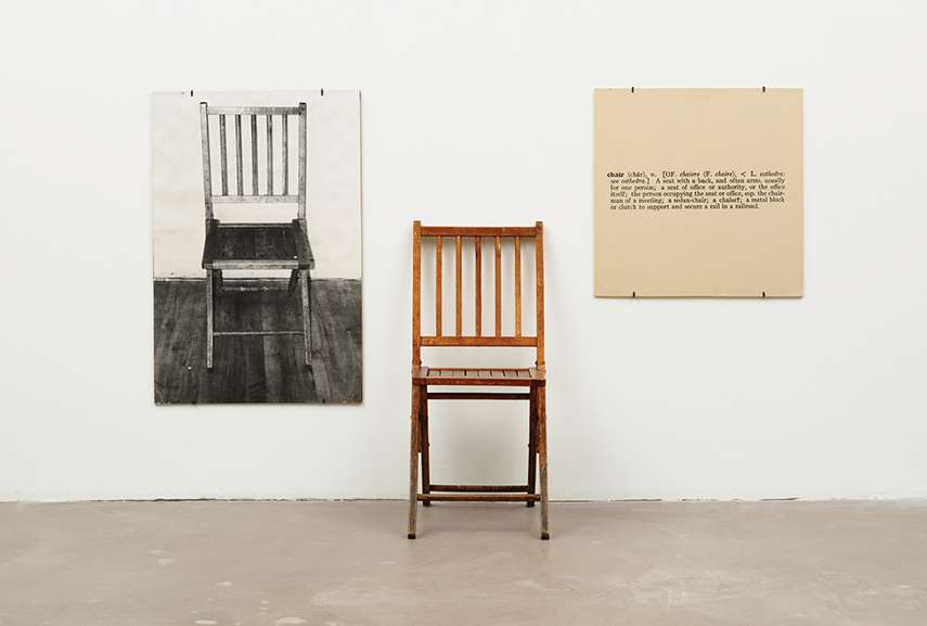 Joseph Kosuth - One and Three Chairs, 1965