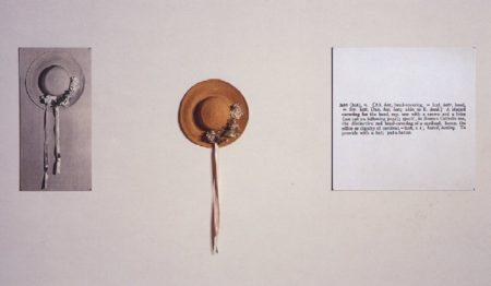 Joseph Kosuth-One and Three Hats-1965