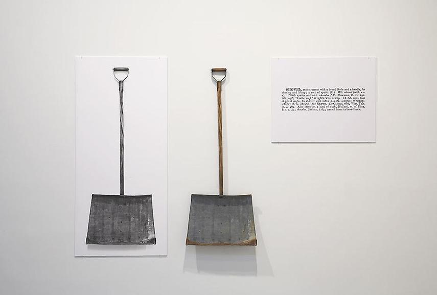 Joseph Kosuth - One and Three Shovels. Image via wahooart.com