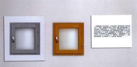 Joseph Kosuth-One and Three Windows-1965