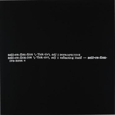 Joseph Kosuth-Self-Reflective-1968