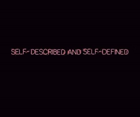 Joseph Kosuth-Self-described and Self-defined-1965