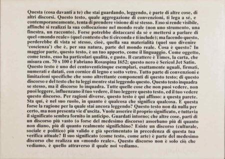 Joseph Kosuth-Senza Titolo-1978