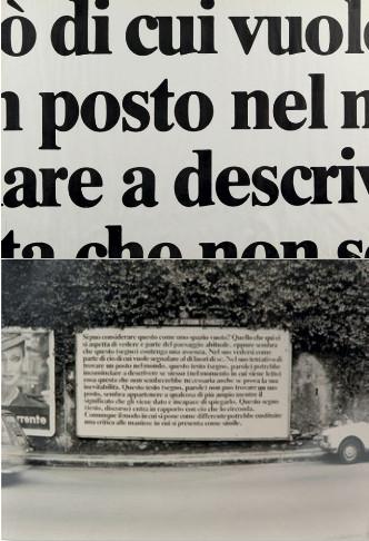 Joseph Kosuth-Senza titolo (Performance Eseguita a Genova)-1970
