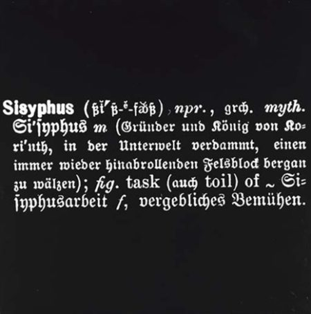 Joseph Kosuth-Sisyphus-1967