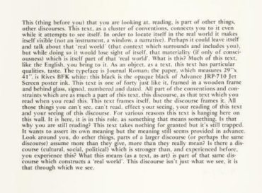 Joseph Kosuth-Text-Context (Conventional)-1978