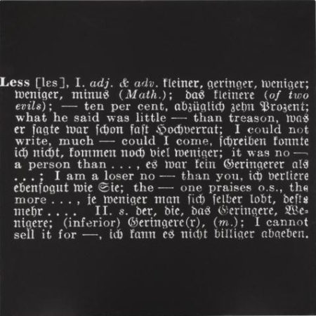 Joseph Kosuth-Titled (Art as Idea as Idea) [Less]-1967