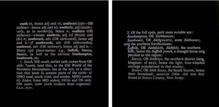 Joseph Kosuth-Titled (Art as Idea as Idea) South-1968