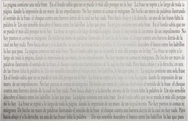 Joseph Kosuth-Una Sola Frase-2003