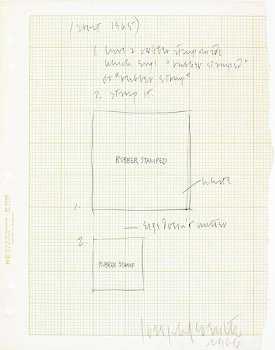 Joseph Kosuth-Untitled, Study for Rubber Stamp-1966