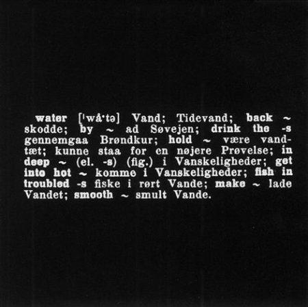 Joseph Kosuth-Water-1970