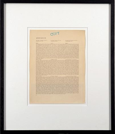 Joseph Kosuth-Work-1978