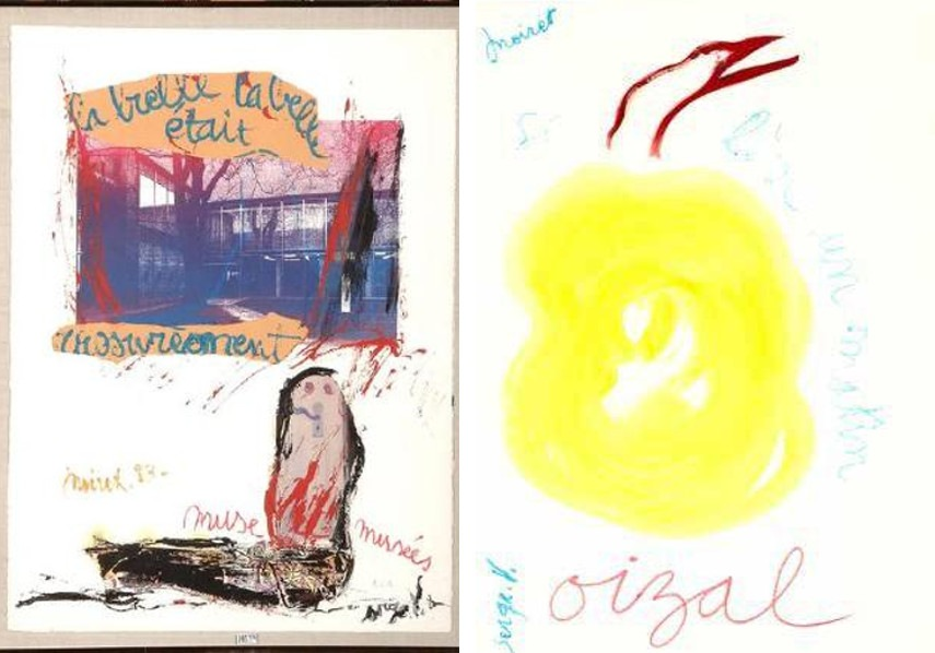 Joseph Noiret and Serge Vandercam - Composition, 1983 (Left), Oizal, Se leve un matin, 1983 (Right)
