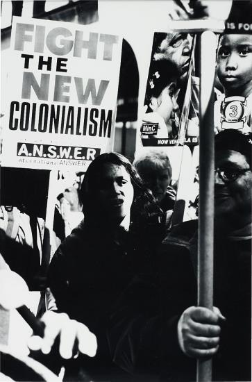 Josephine Meckseper-Untitled (The World STILL Says No to War, March 20, '04, NYC, Fight the New)-2004