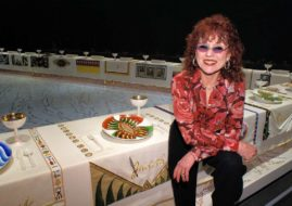 heritage floor party dinner elizabeth place sacler center museum judy chicago the dinner party