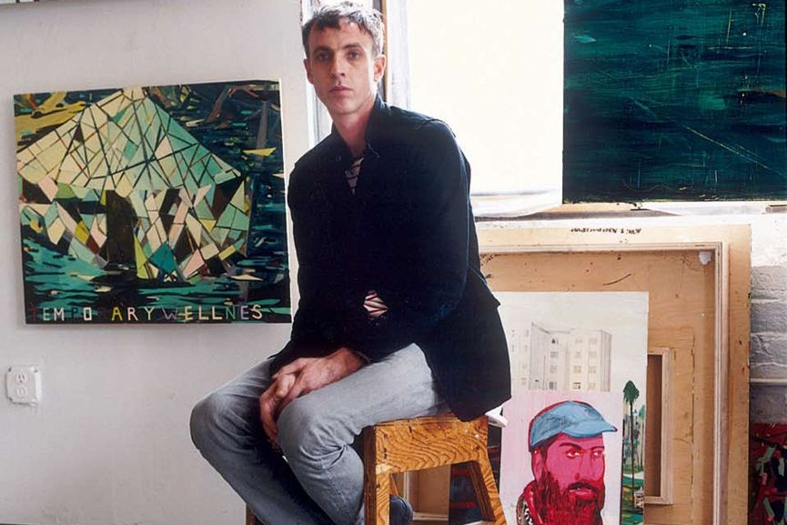 he preferes modern landscape school and painters like john thomas and william