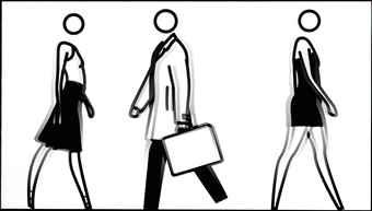 Julian Opie-People Walking-2007