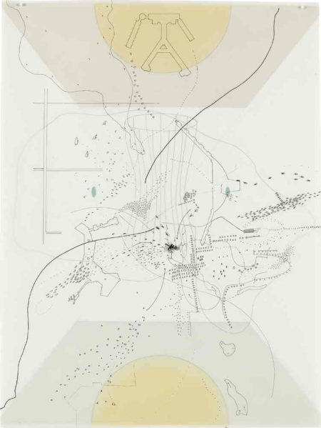 Julie Mehretu-Untitled (Terminal #5 O'Hare)-1998