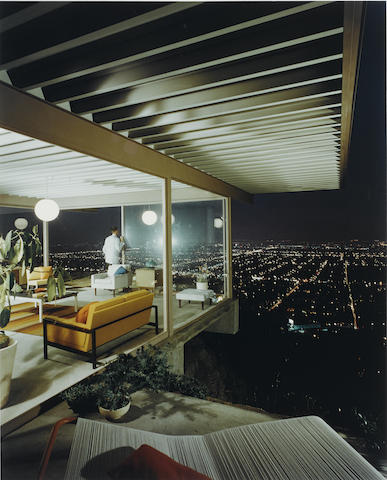 Julius Shulman-Case Study House No. 22, Los Angeles, Pierre Koenig, Architect-1960